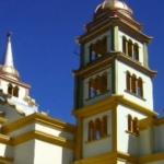 Vista a las torres de la parroquia San Pedro Soloma. - foto por www.sanpedrosoloma.org