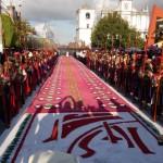 Procesion en Coban Alta Verapaz foto por Oscar Chun 150x150 - Galería - Fotos de las Tradicionales Alfombras de la Cuaresma y Semana Santa