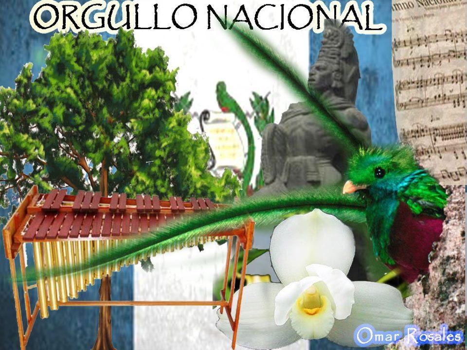 Collage de símbolos de Guatemala por Omar Rosales