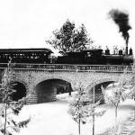 Recuerdos Ferrocarril sobre el Puente de la Penitencieria alrededor de 1900 150x150 - Galería – Fotos del Ferrocarril de Antaño en Guatemala