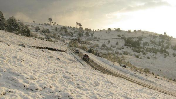 Nevada en Ixchiguán, San Marcos, 1/25/2013 - foto por Twitter-DJamblet
