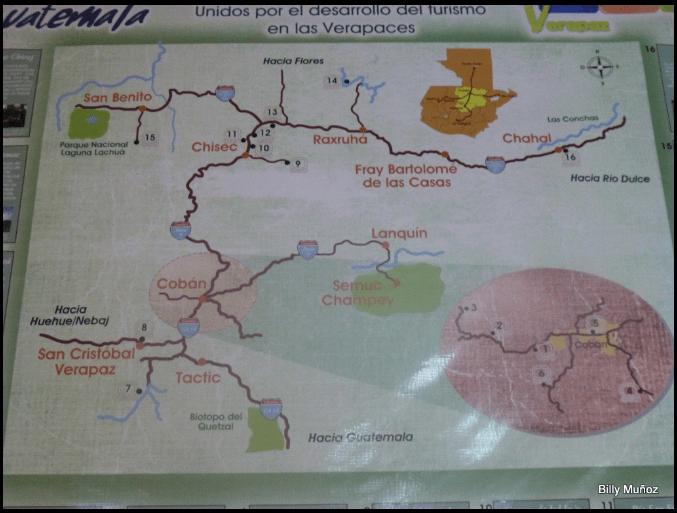 Las Conchas Billy 21 mapa - Guía Turística – Las Conchas