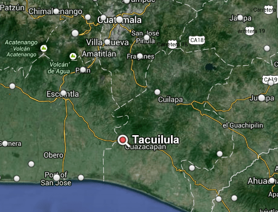 tacuilula mapa - Tacuilula, historica ciudad Xinca en Santa Rosa