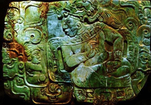 Placa de Jade de Nebaj Quiche mayasautenticos - El Jade en la Cultura Maya