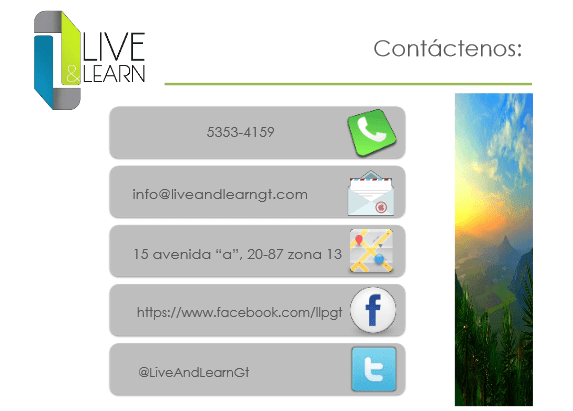 live and learn contact - Live & Learn - Empresa de Servicios de Psicología Aplicada