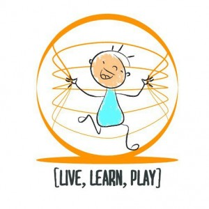 live and learn - logo con cartoon