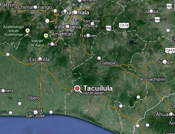 Mapa de Tacuilula