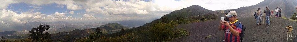 Vista panorámica del valle central de Ciudad de Guatemala