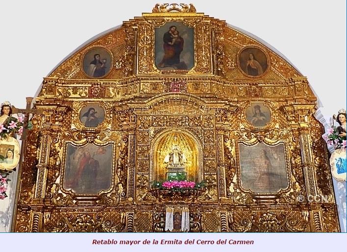 Retablo mayor Ermita del Cerro del Carmen 11 - Guía Turística - El Cerrito del Carmen