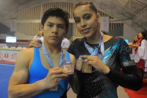 Ana Sofía Gómez Porras y Jorge Vega han sido nominados a ser los mejores gimnasta Latinos.