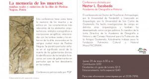 Evento – Conferencia: La Memoria de los Muertos