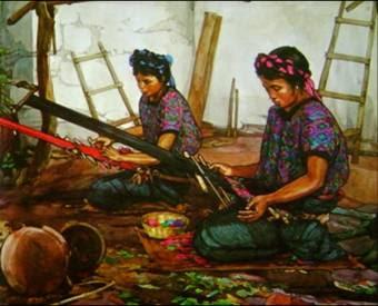 La vestimenta típica de los guatemaltecos varía de acuerdo a la región de donde se es originario, quichés, mames o cakchiqueles.