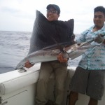 Norman foto oficial de primer Pez Vela liberado 150x150 - Guía Turística - Pesca Deportiva en Guatemala