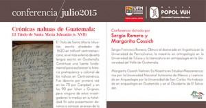 Evento – Crónicas nahuas de Guatemala