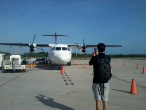 Así se ve la pista de aterrizaje en el aeropuerto Mundo Maya