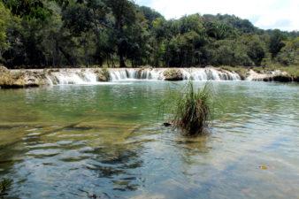 balneario las pozas 338x225 - Guía Turística - Balneario Las Pozas, Macháquila, Poptún, Petén