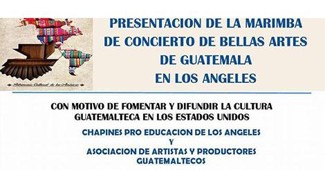 Evento – Marimba de Bellas Artes de Guatemala llega a Los Angeles