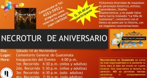 Evento – Necrotour de Aniversario 14 de Nov
