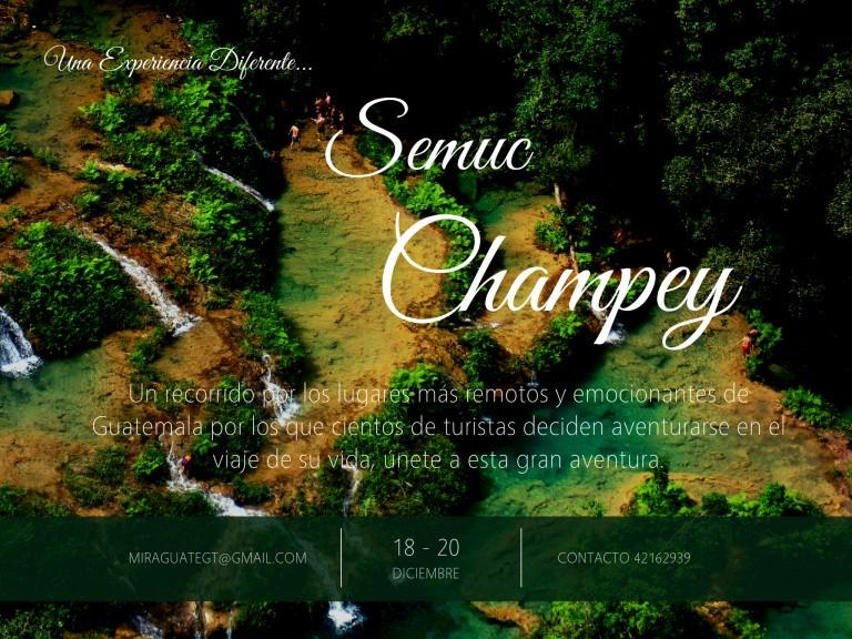 Evento – Semuc Champey y Cuevas de Lanquín 18-20 de Dic.