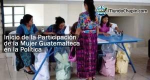 Los inicios de la mujer guatemalteca en la política