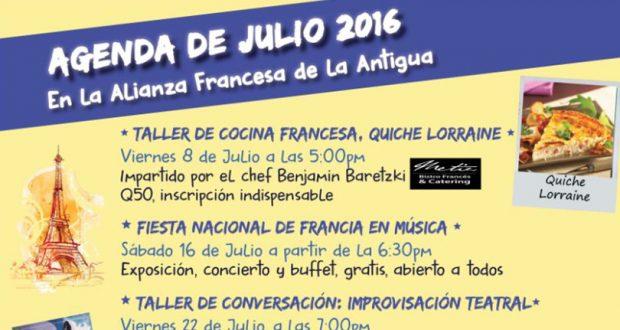 Agenda Julio 2016 Alianza Francesa
