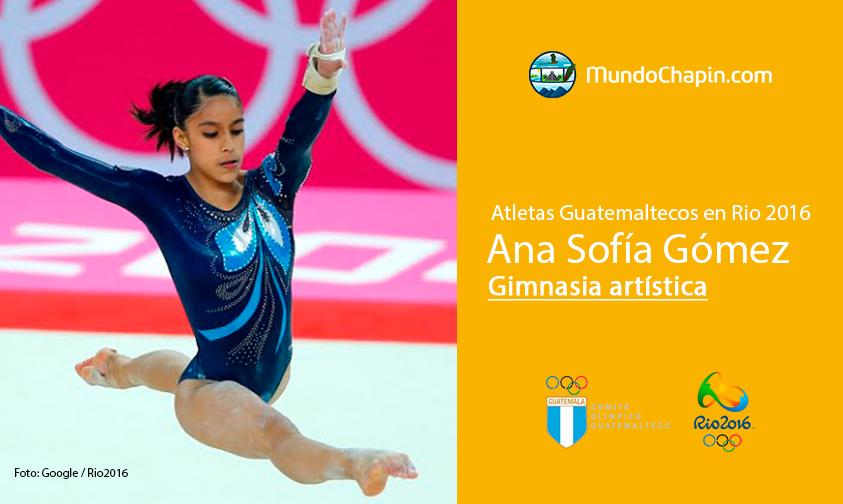 Ana Sofía Gómez, Guatemala, Gimnasia artística Rio 2016