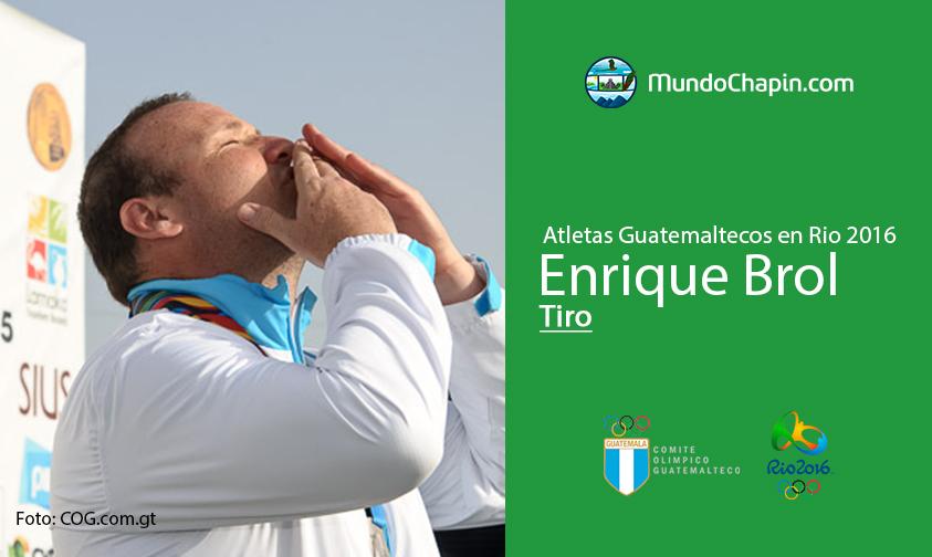Enrique Brol, Guatemala, Tiro Rio 2016