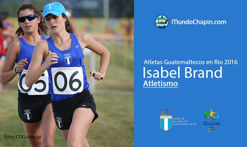 Isabel Brand, Guatemala, Atletismo Rio 2016