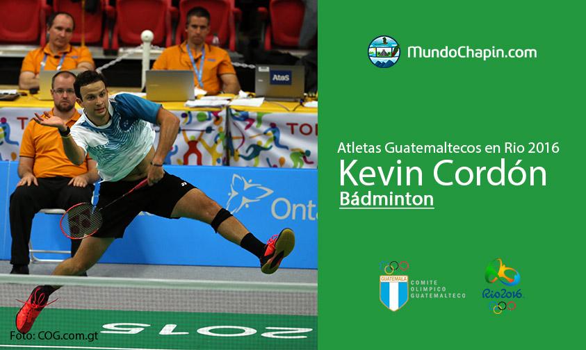 Kevin Cordón, Guatemala, Bádminton Rio 2016