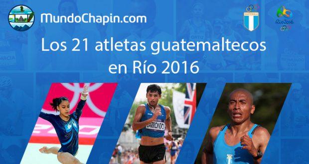 Los 21 atletas guatemaltecos en Río 2016
