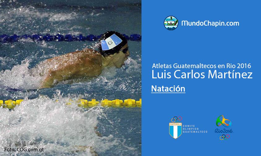 Luis Carlos Martínez, Guatemala, Natación Rio 2016