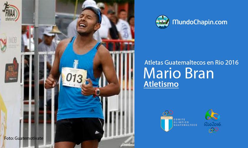Mario Bran, Guatemala, Atletismo Rio 2016