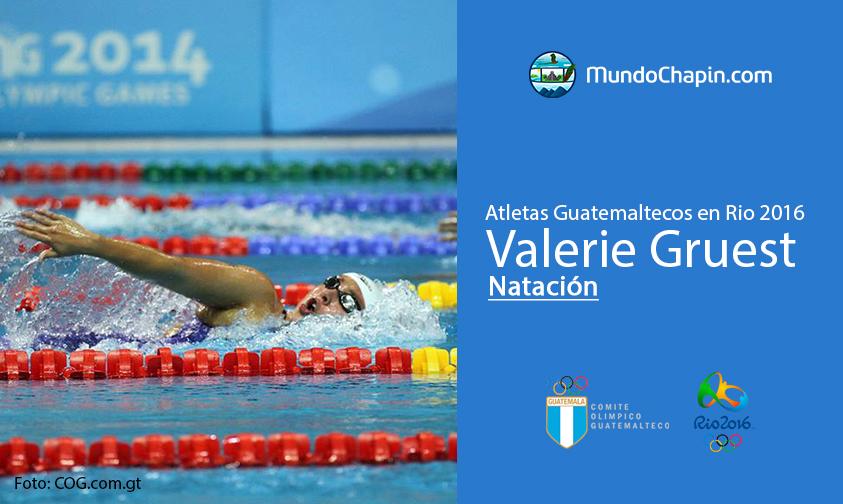 Valerie Gruest, Guatemala, Natación Rio 2016