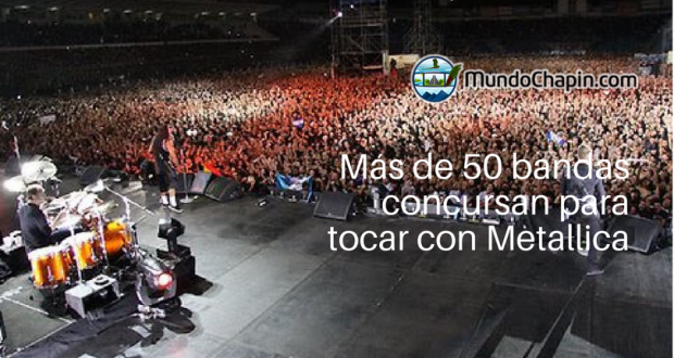 Más de 50 bandas guatemaltecas compiten para tocar con Metallica