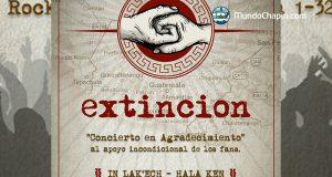 Extinción anuncia concierto gratuito