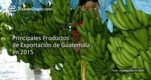 Principales productos de exportación de Guatemala en 2015