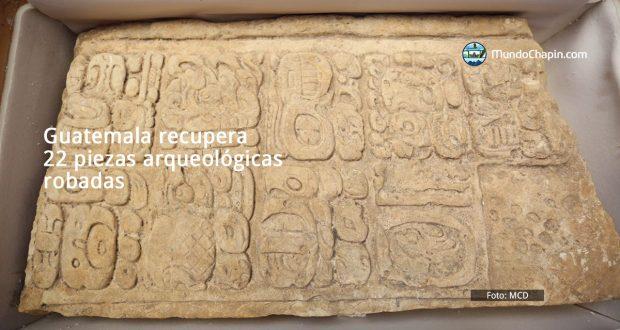 Guatemala recupera 22 piezas arqueológicas robadas