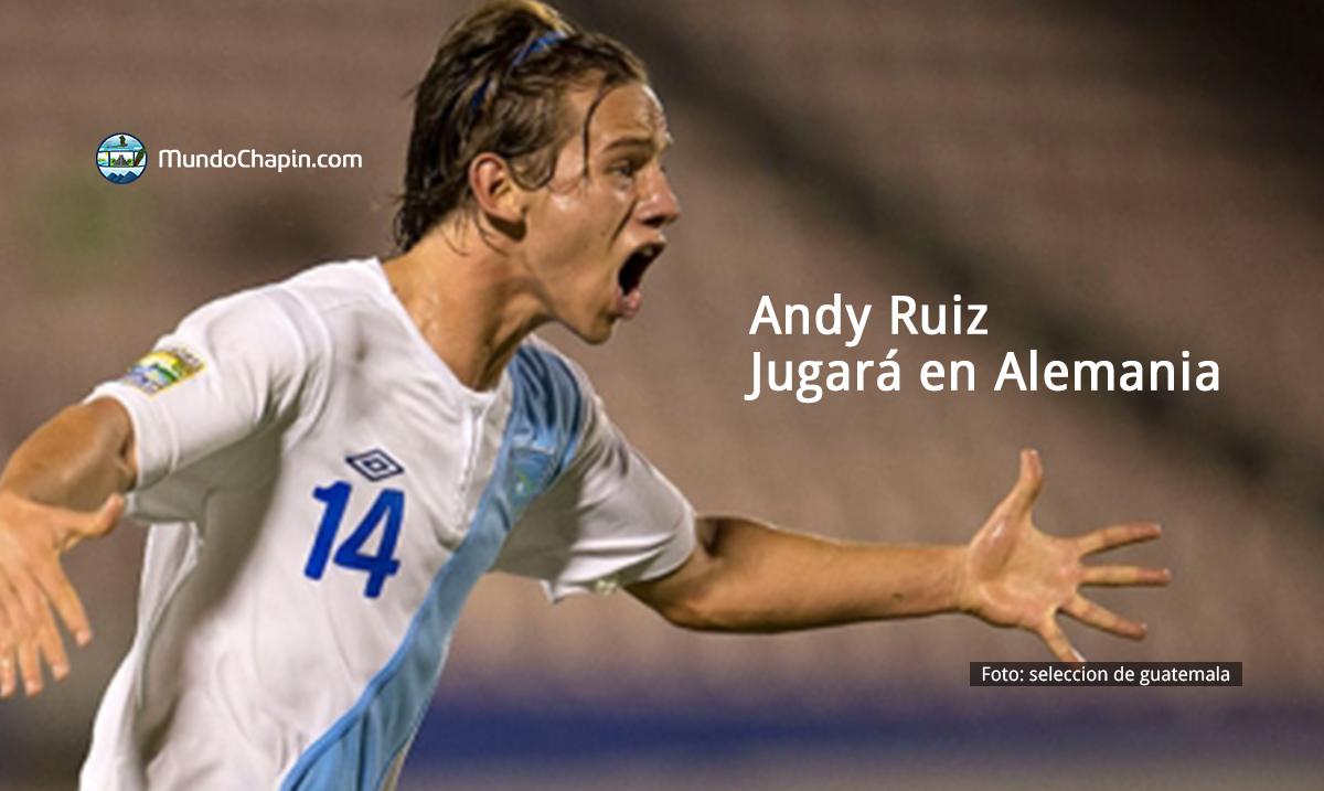 Futbolista Andy Ruiz jugará en Alemania