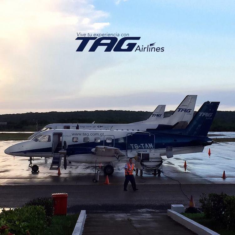 foto tag airlines - Ahora podrás viajar en vuelos comerciales de Guatemala a Puerto Barrios