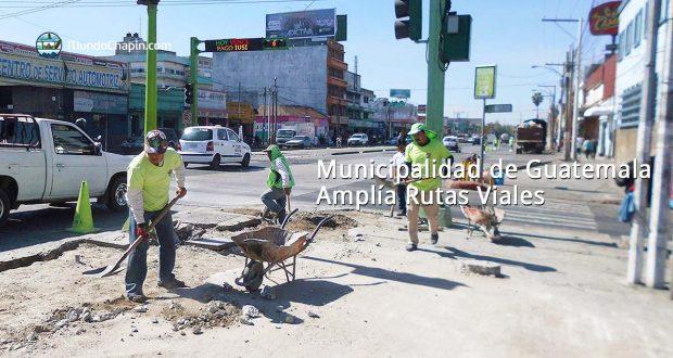 Municipalidad de Guatemala Amplía Rutas Viales