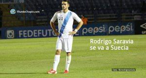 El mediocampista guatemalteco, Rodrigo Saravia, se va a Suecia