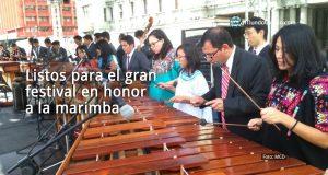 Listos para el gran festival en honor a la marimba
