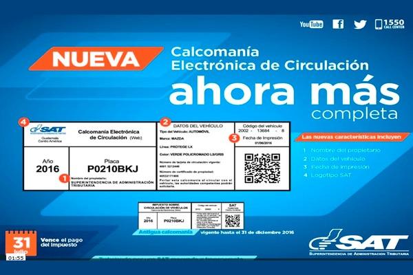 cambios en calcomania - Impuesto de Circulación de Vehículos, último día 31 de Julio