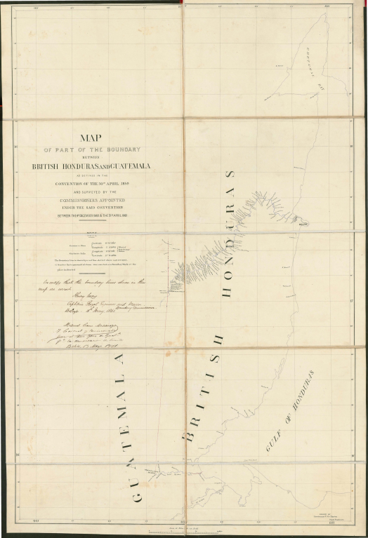 524px wyke aycinena treaty map - Tratado Wyke-Aycinena firmado entre Guatemala e Inglaterra